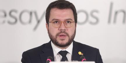 Pere Aragonès se ha convertido en el interlocutor del Gobierno. / EP