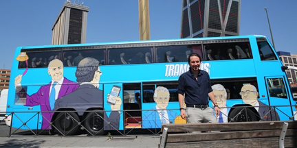 El Tramabús fue la primera iniciativa relevante que tomó Del Olmo cuando asumió la comunicación de Podemos en la primavera de 2017. /Europa Press
