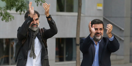 Cuixart y Sànchez ya han cumplido la cuarta parte de su condena. / EP