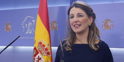 Todo apunta a que la diputada de Galicia en Común, Yolanda Díaz, quedará al frente del Ministerio de Trabajo. / EP