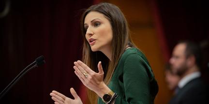 Lorena Roldán (Cs) tiene, a priori, más opciones que Alejandro Fernández (PP) en Cataluña. / EP