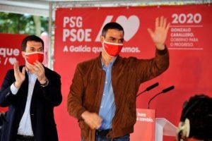 """Pedro Sánchez arropó a Caballero en campaña, pero su resultado ha sido """"insuficiente"""". / EUROPA PRESS"""