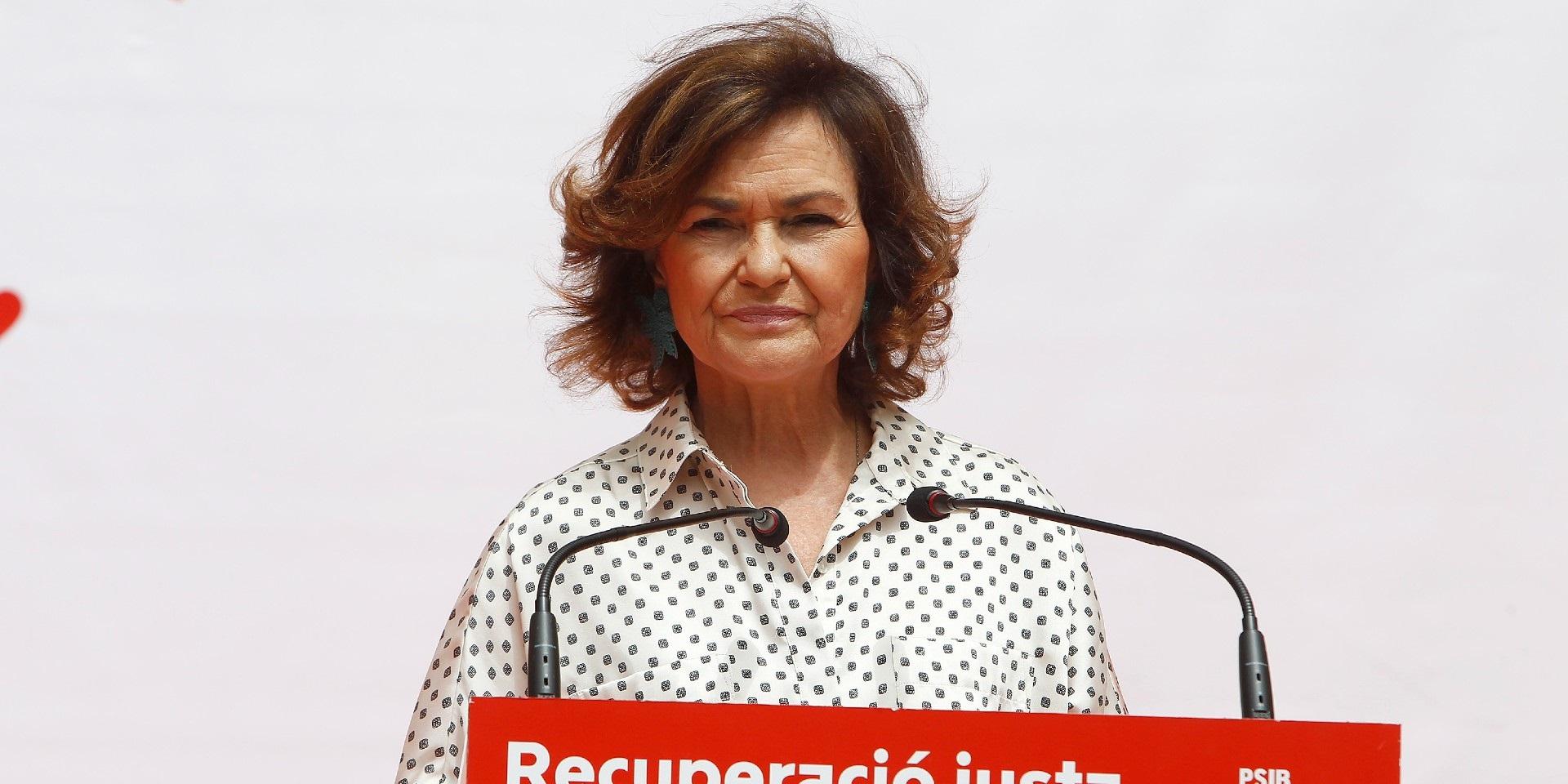 Carmen Calvo ha sufrido una severa derrota política con la aprobación de la Ley Trans. / EP